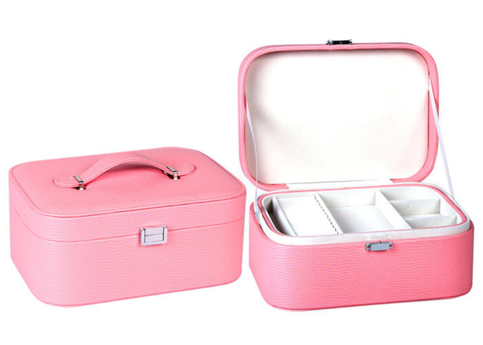Ladies Watch Jewelry Box , Femal Cardboard Leather Wrapped Ring Jewelry Box