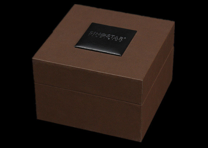 Gift Packaging Women Watch Box Plastic Covered Elegant Style 100 * 100 * 75mm