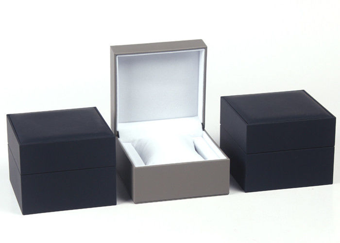 Recyclable Mens Watch Gift Box , High Gloss Single Plastic Wrist Watch Box