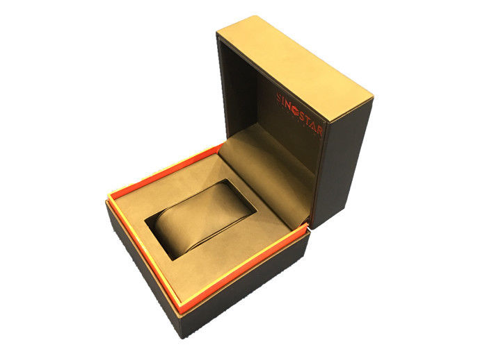 Single Twist Black Plastic Watch Box High Glossy Durable Presentation Gift