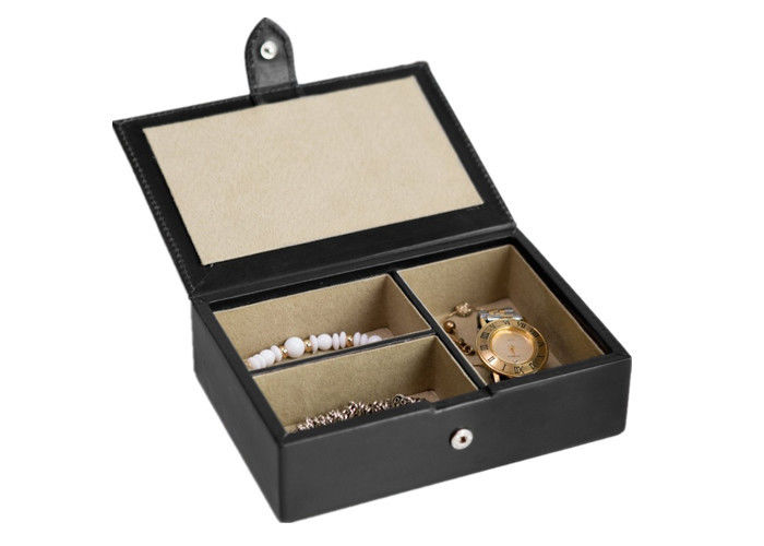 Luxury Leather Jewelry Box Cardboard + Leather + Velvet Screen Printing Surface Finish
